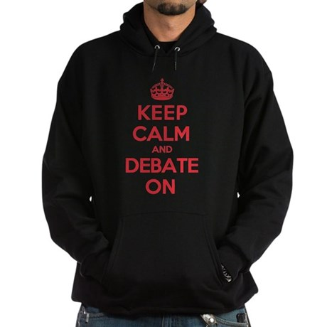 Keep Calm Debate Hoodie (dark)