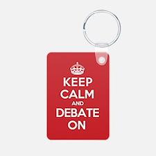 Keep Calm Debate Keychains