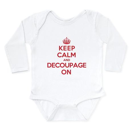 Keep Calm Decoupage Long Sleeve Infant Bodysuit