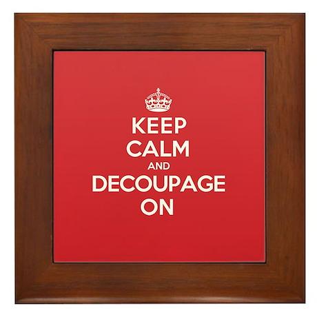 Keep Calm Decoupage Framed Tile