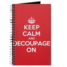 Keep Calm Decoupage Journal