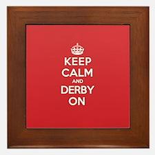 Keep Calm Derby Framed Tile