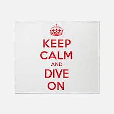 Keep Calm Dive Throw Blanket