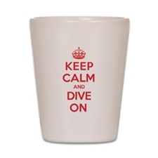 Keep Calm Dive Shot Glass