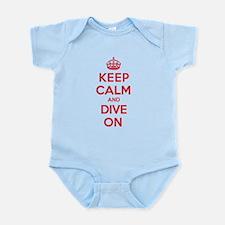 Keep Calm Dive Infant Bodysuit