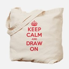Keep Calm Draw Tote Bag