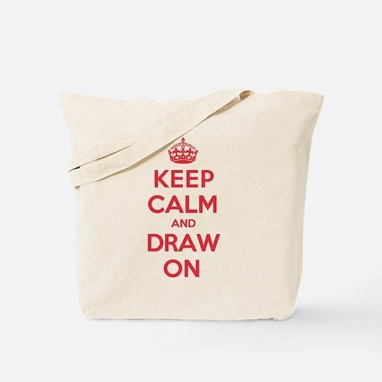 Keep Calm Draw Tote Bag