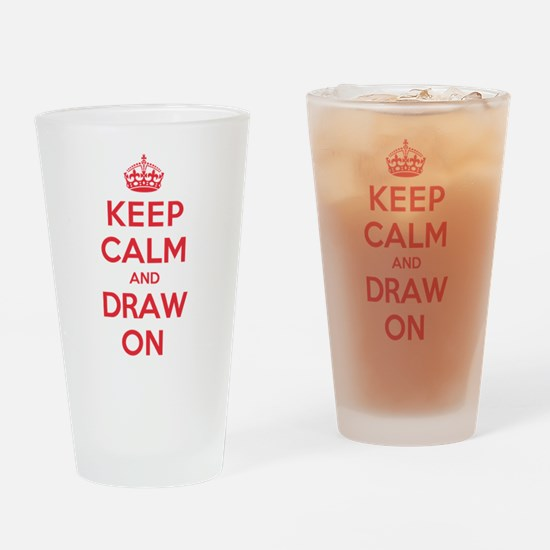 Keep Calm Draw Drinking Glass