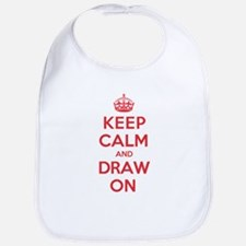 Keep Calm Draw Bib