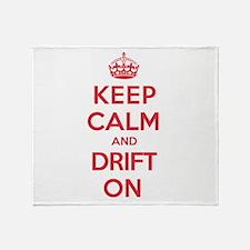 Keep Calm Drift Throw Blanket