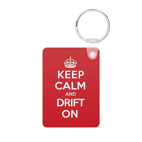 Keep Calm Drift Aluminum Photo Keychain