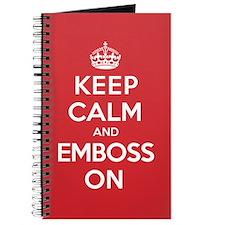 Keep Calm Emboss Journal