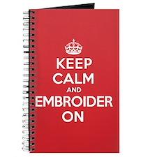 Keep Calm Embroider Journal