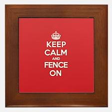 Keep Calm Fence Framed Tile