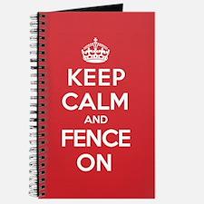 Keep Calm Fence Journal