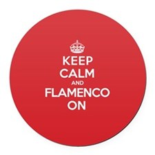 Keep Calm Flamenco Round Car Magnet