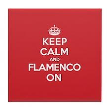 Keep Calm Flamenco Tile Coaster