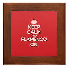 Keep Calm Flamenco Framed Tile