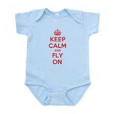 Keep Calm Fly Infant Bodysuit