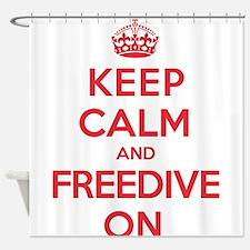 Keep Calm Freedive Shower Curtain