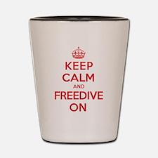 Keep Calm Freedive Shot Glass
