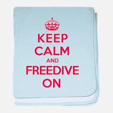 Keep Calm Freedive baby blanket