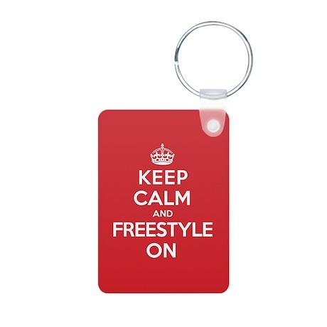 Keep Calm Freestyle Aluminum Photo Keychain