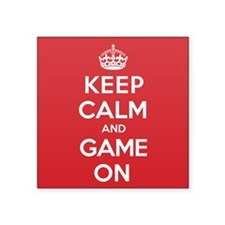 "Keep Calm Game Square Sticker 3"" x 3"""