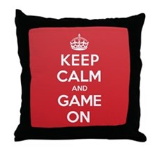 Keep Calm Game Throw Pillow