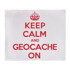 Keep Calm Geocache Throw Blanket