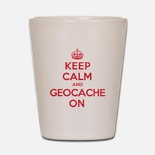 Keep Calm Geocache Shot Glass