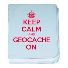 Keep Calm Geocache baby blanket