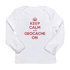 Keep Calm Geocache Long Sleeve Infant T-Shirt