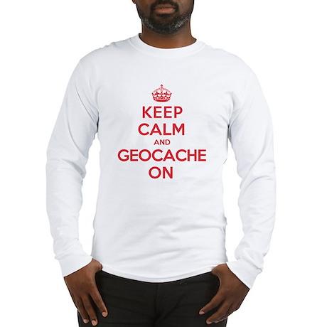 Keep Calm Geocache Long Sleeve T-Shirt