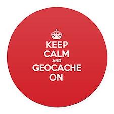 Keep Calm Geocache Round Car Magnet