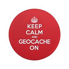 "Keep Calm Geocache 3.5"" Button (100 pack)"