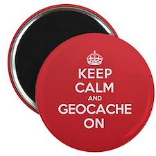 "Keep Calm Geocache 2.25"" Magnet (100 pack)"