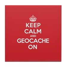 Keep Calm Geocache Tile Coaster