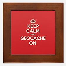 Keep Calm Geocache Framed Tile