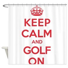 Keep Calm Golf Shower Curtain
