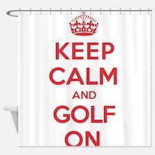 Keep Calm Golf Shower Curtain