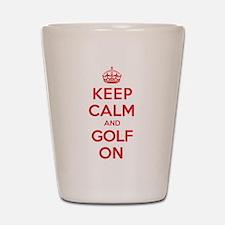 Keep Calm Golf Shot Glass