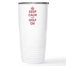 Keep Calm Golf Travel Mug