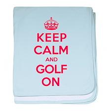 Keep Calm Golf baby blanket