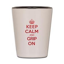 Keep Calm Grip Shot Glass