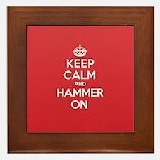 Keep Calm Hammer Framed Tile