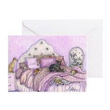 Sighthounds slumber party Greeting Cards (Pk of 20
