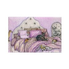 Sighthounds slumber party Rectangle Magnet