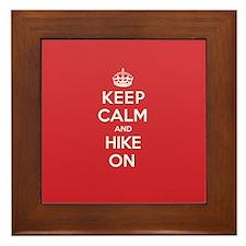 Keep Calm Hike Framed Tile