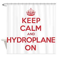 Keep Calm Hydroplane Shower Curtain